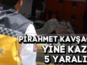 Gümüşhane'de Trafik Kazası:5 Yaralı