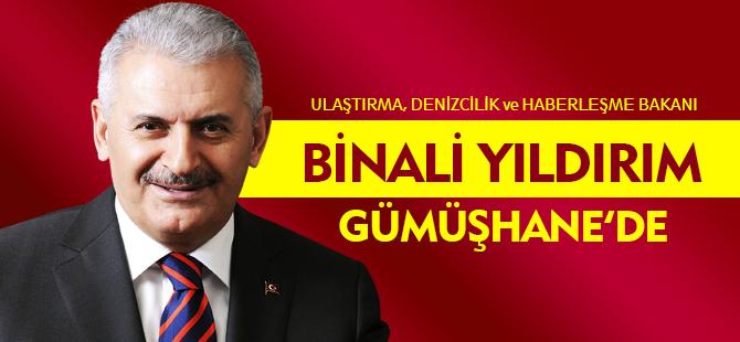 BİNALİ YILDIRIM GÜMÜŞHANE'DE