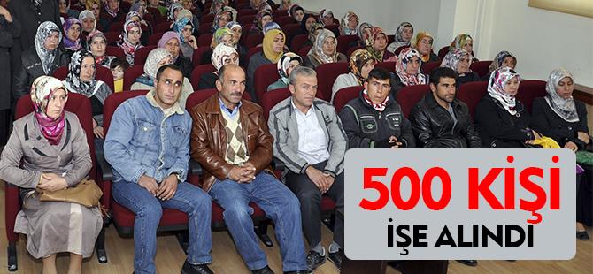 500 KİŞİ İŞE ALINDI