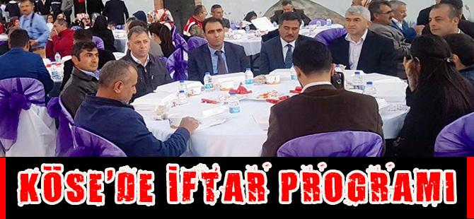 Köse'de iftar programı