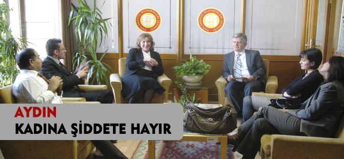 """AYDIN """"KADINA ŞİDDETE HAYIR"""""""