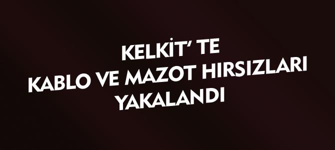 KELKİT'TE KABLO ve MAZOT HIRSIZLARI YAKALANDI