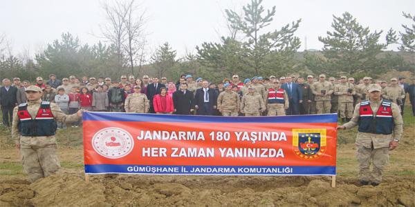 JANDARMA ŞEHİTLER ORMANI OLUŞTURDU