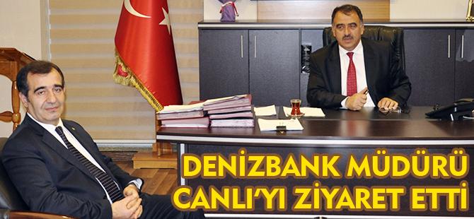 DENİZBANK MÜDÜRÜ ÜNAL OKUR BAŞKAN CANLI'YI ZİYARET ETTİ