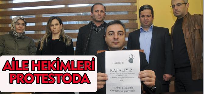 AİLE HEKİMLERİ PROTESTODA