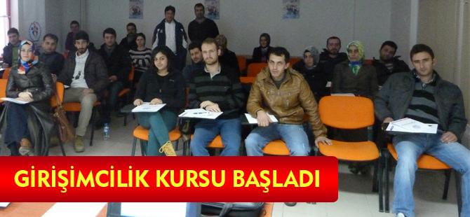 GİRİŞİMCİLİK KURSU BAŞLADI