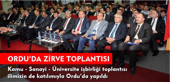 ORDU'DA ZİRVE TOPLANTISI