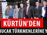 KÜRTÜN'DEN BAYIRBUCAK TÜRKMENLERİNE YARDIM