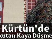 Kürtün'de korkutan kaya düşmeleri