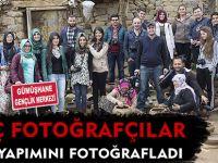 GENÇ FOTOĞRAFÇILAR GUDU YAPIMINI FOTOĞRAFLADI