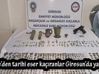 Gümüşhane'den tarihi eser kaçıranlar Giresun'da yakalandı