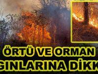 DOĞU KARADENİZ BÖLGESİ'NDE  ÖRTÜ VE ORMAN YANGINLARINA DİKKAT!..
