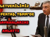 MİLLETVEKİLİMİZ CİHAN PEKTAŞ, TBMM'DE SU KAYNAKLARINI ANLATTI