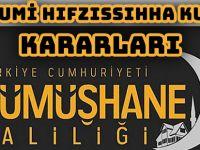 İL UMUMİ HIFZISSIHHA KURULU KARARLARI