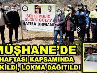GÜMÜŞHANE'DE POLİS HAFTASI KAPSAMINDA FİDAN DİKİLDİ, LOKMA DAĞITILDI