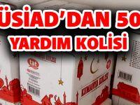 GÜSİAD'DAN 500 YARDIM KOLİSİ
